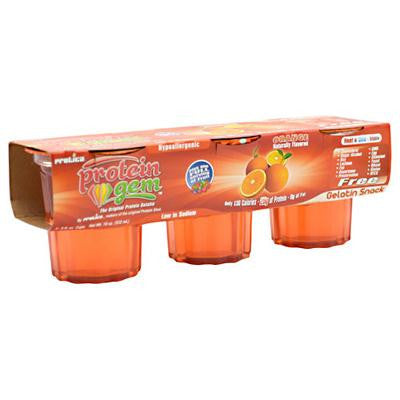 Picture of Protica Nutritional Research Protein Gems - Orange - 6 fl oz - 3 pack