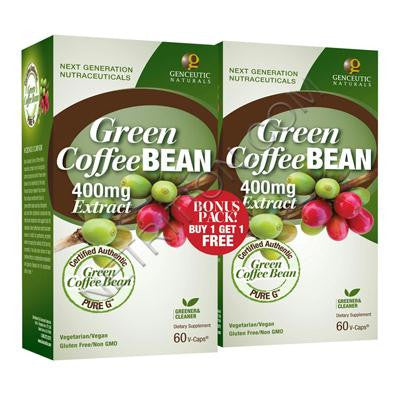 Picture of Genceutic Naturals Green Coffee Bean - 400 mg - 60 Vcaps - 2 ct