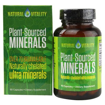 Picture of Natural Vitality Plant Sourced Minerals - 60 Vegan Capsules