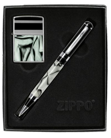 Picture of Marble Pattern Zippo & Pen Gift Set