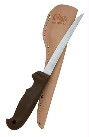"Picture of 6"" Fillet Fixed Blade W/ Leather Sheath"