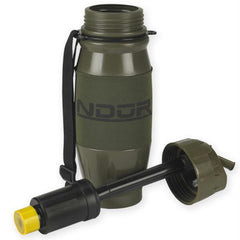 NDUR 28oz Flip Top Filtration Btl Olive