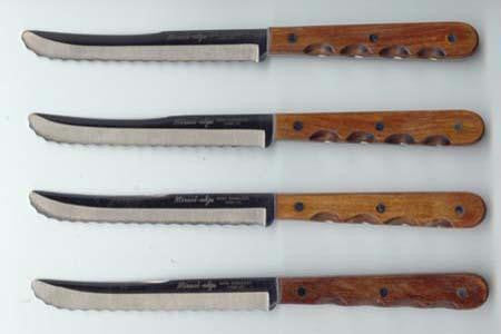 Picture of Steak Knives Set of 4 Hardwood Handle