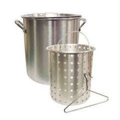 24 Qt. Aluminum Deep Fry Pot w/Basket