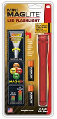 Maglite 2 AA Red LED w/ Nylon Sheath