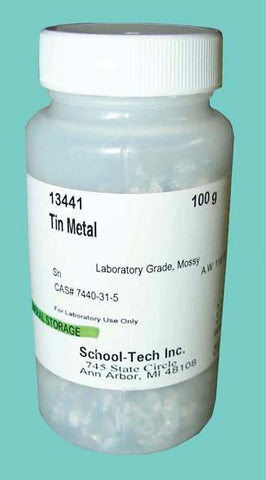 Picture of Tin Metal, lab grade, mossy - 100g