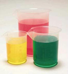 Polypropylene Beakers - 500ml (Pack of 4)
