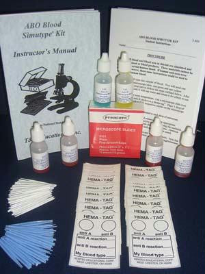Picture of ABO Blood Simutype Kit