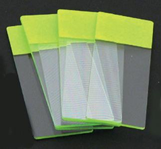 Picture of Color Coded Microscope Slides - Green