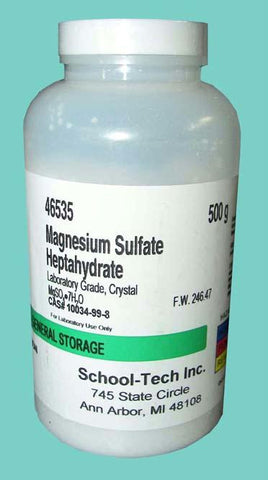 Picture of Magnesium sulfate, lab grade, crystal - 500g