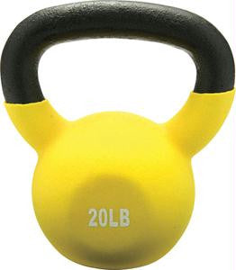 Picture of Vinyl Coated Kettlebell - 20 lbs. (Yellow)