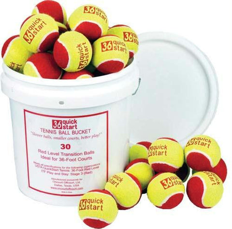 Picture of Quick Start 36 Tennis Balls (Bucket or 30 Balls)