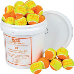 Quick Start 60 Tennis Balls (Bucket of 36 Balls)