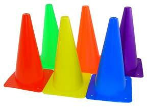 "Picture of 15"" Poly Cones - Set of 6 Colors"