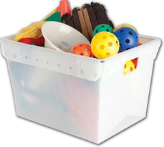 Small Plastic Nesting Storage Tote - White