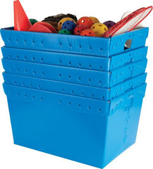 Large Plastic Nestable Storage Totes - Blue