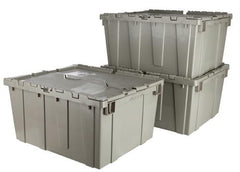 Premium Heavy-Duty Attached Lid Containers - Blue