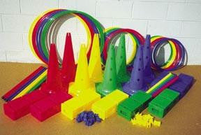 "Picture of Deluxe Activity Kit w/ 12"" Hurdle Cones"