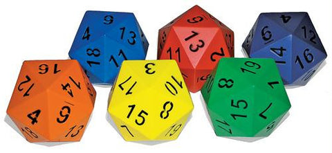 Picture of 20-Sided Foam Dice