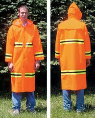Orange Raincoat w/ Stripes - Medium