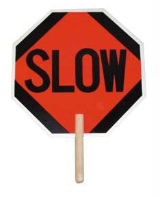 "Picture of 18"" Stop/Slow Paddle Sign"