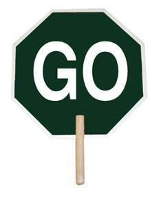 "Picture of 18"" Stop/Go Paddle Sign"