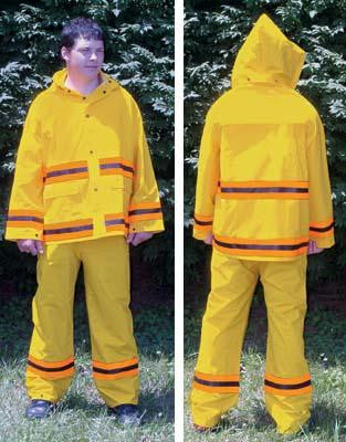 Picture of 3-Piece Rain Suit w/ Stripes - Large