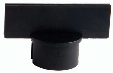 "Picture of Stanchion Sign Adapter - 3"" Black"