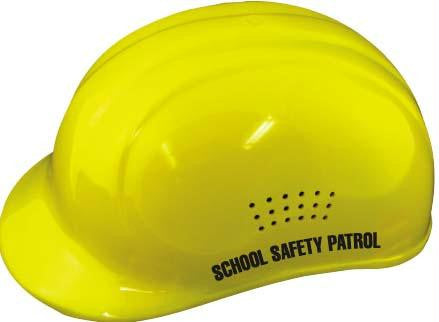 Picture of Yellow Crossing Guard Helmet w/ Label