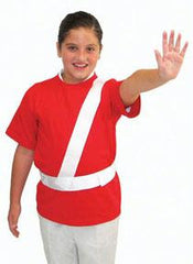 White Safety Patrol Belt - Medium
