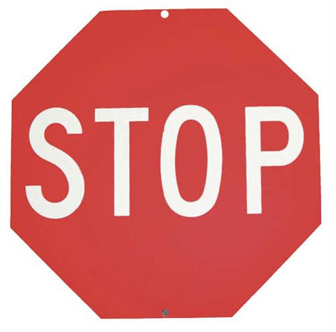 "Picture of 18"" Plastic Stop Sign"