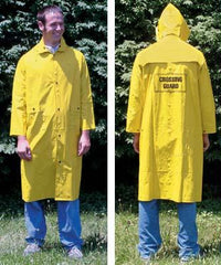 Yellow Fluorescent Raincoat W/Emblem-X-Large
