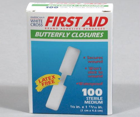 Picture of 3/8_x001d_ Plastic Butterfly Bandages (Box of 100)