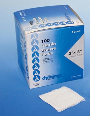 "Picture of Gauze - 3"" x 3"" Pads (Box of 100)"