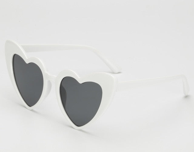 Cute Heart Vintage Sunglasses
