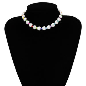 Multi Layered Pearl Choker Necklace