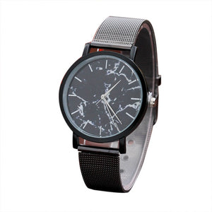 Stainless Steel Marble Surface Watch