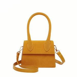 Matte Leather Small Square Handbag