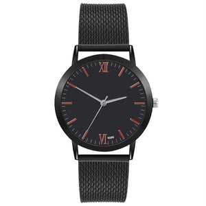 Auger Minimalistic Silicone Strap Watch