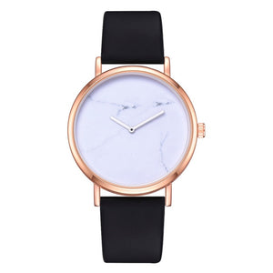 Ladies Simple Marble Pattern Wristwatch