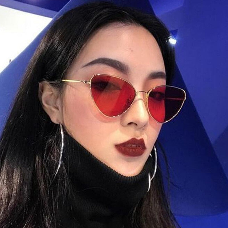 Trendy Tinted Color Vintage Sunglasses