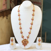 Appealing Gold Plated Peacock Necklace Set for women