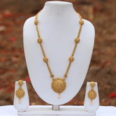 Look Ethnic Gold Plated Long Necklace For Women (LEMZL00046)
