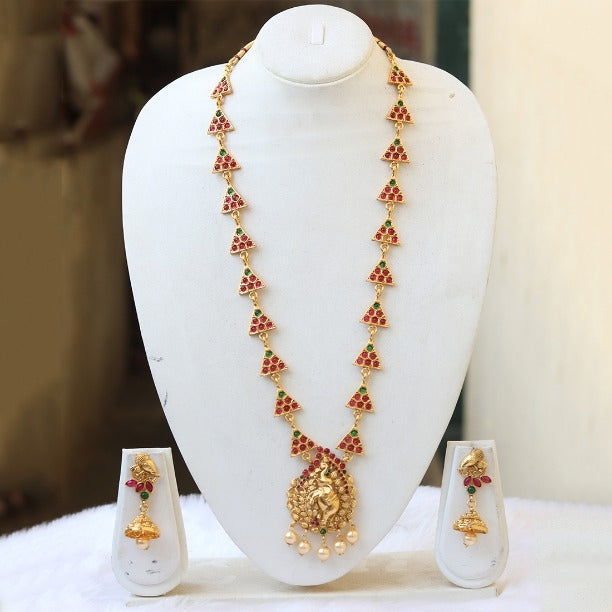Elephant Inspired Gold Plated Necklace Set for Women