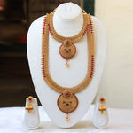 Handmade South Indian Short Long Bridal Haram Necklace Set