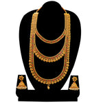Amazing Semi Bridal Gold Plated Long Haram Necklace Set
