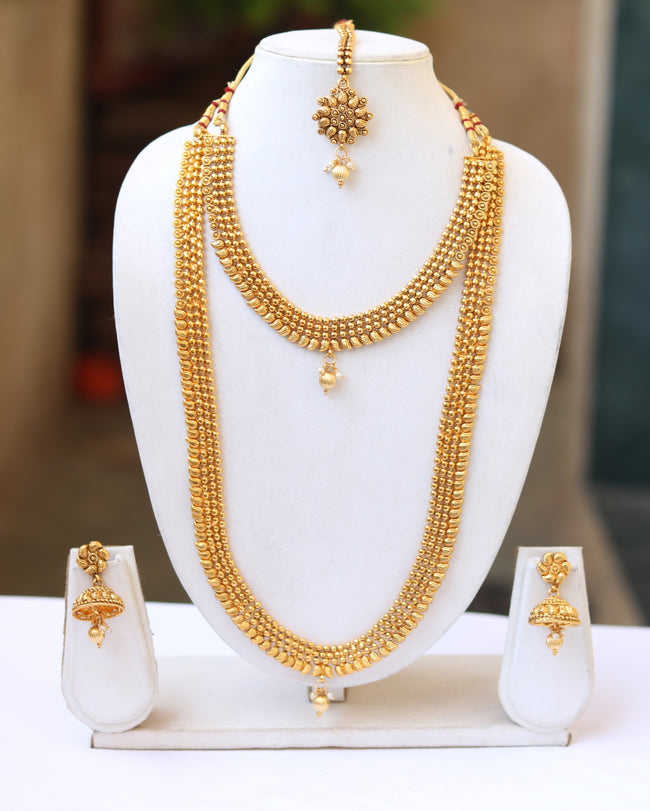Attractive Golden Color Haram Set