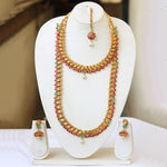 Style Look Gold Plated Haram Semi Baridal Necklace Set