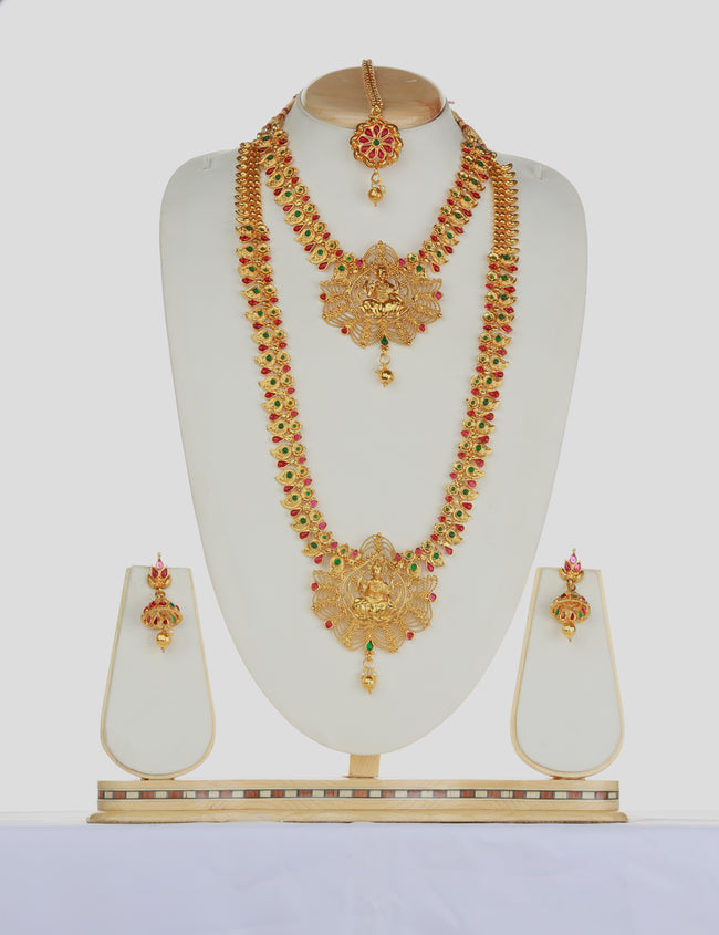 Multicolor Laxmi Design Haram Set For Women