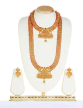 South Indian Maroon Color Haram Set For Women